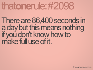 86,400 seconds in a day
